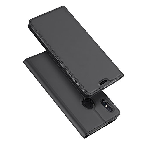 DUX DUCIS Funda Xiaomi Redmi Note 5,Flip Folio Cover,Soporte Plegable,1 Ranuras para Tarjetas,Magnético,Ultra-Delgado Carcasa para Xiaomi Redmi Note 5 (Gris)