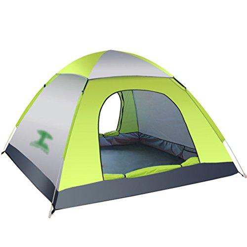 Dooxi 2-3 Personen Freistehendes Kuppelzelt Wasserdicht Pop Up Strand Camping Zelte mit Doppel-Tür Grau Grün