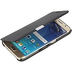 MTRONX pour S6 Edge Coque, Galaxy S6 Edge Coque, Ultra Slim Flip Magnetic Cuir Etui Housse Poche Cas Couverture pour Samsung Galaxy S6 Edge - Noir(MG-BK)