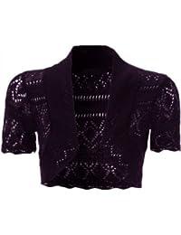 Nouvelle femme tricoté crochet poisson net boléro zuckt récolte vestes