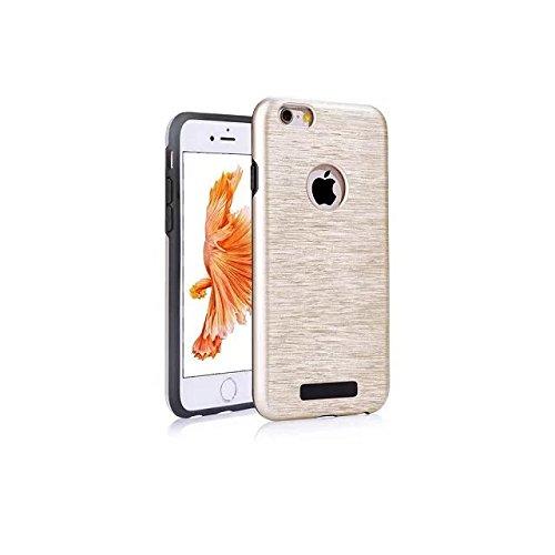 """iPhone 6 Plus Coque,iPhone 6S Plus Coque,Lantier Texture métallisée brossée Résistant aux chocs Résistant aux chocs Housse de protection double couche pour iPhone 6 Plus/6S Plus 5.5"""" Or rose Brushed Texture Gold"""
