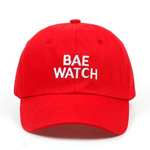 SHENBEIK Cap Bae Watch Papa Hut Bestickte Hut Baseballmütze Tumblr Pintrest Trend Baseballmütze Red
