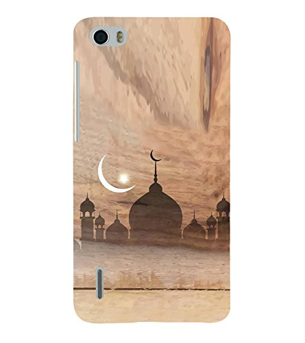 Fiobs Designer Back Case Cover for Huawei Honor 6 (Eid Moon Chand...