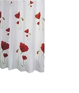 """Ridder 471200-350 Tenda per doccia """"papavero"""" in tessuto 120x200 cm, colore: Multicolore"""