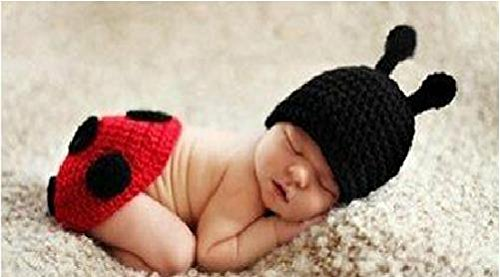 Baby Kleinkind Neugeborenen Hand gestrickt häkeln Strickmütze Hut Kostüm Baby Fotografie Requisiten Props (Käfer - Baby Hände Kostüm