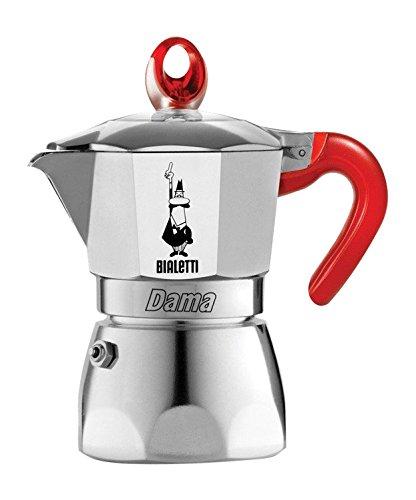 Bialetti DAMA VANITY 3 CUPS RED Espressokocher 3 Tassen, rot lackiert -