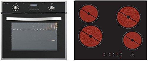 Juego de Instalación de cocina Set Horno vitrocerámica Autark 8funciones 2telescópico de secciones temporizador digital Set 8G 4400