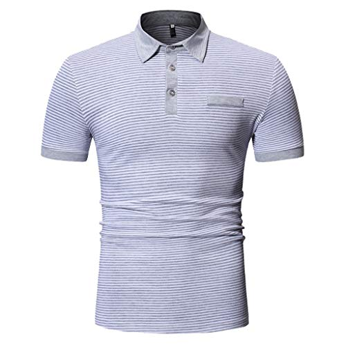 Luckycat Herren Polo Sommer Einfarbig T-Shirt Polo Kragen Slim Fit Baumwolle Anteil Basic schwarzes Männer Poloshirts Kurze Ärmel Sweatshirt Kurzarm Weißes Kurzarmshirts