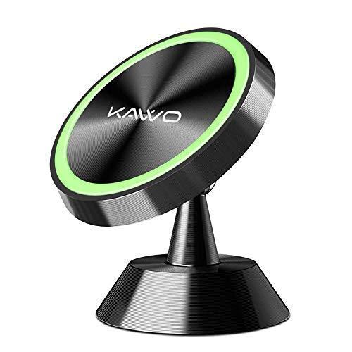 KAVVO Handyhalterung Auto Magnet 360 ° Drehung Fürs KFZ Handyhalter mit superstarken Magneten für iPhone X/8/7/6, Android Smartphones, Galaxy S7/S6 (Auto-führerschein Halterung)