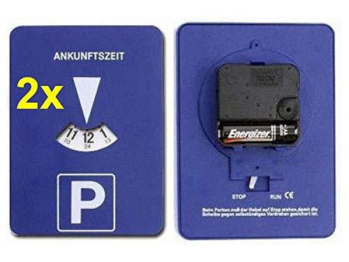 GMBH 2X Mitlaufende Parkscheibe mit Uhrwerk elektronische Parkuhr Run Stop Schalter