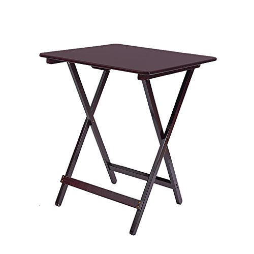 Table carrée Pliante Table portative pour Enfants Table de Chevet en pin Simple Table de Jardin en Noyer Table de jardinière (Taille : 48 * 36 * 65cm)