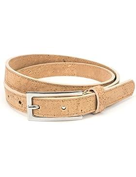 Cinturón de cuero vegano mujeres - Cinturones de piel vegetariana para mujer - Hecho de piel de CORCHO con hebilla...