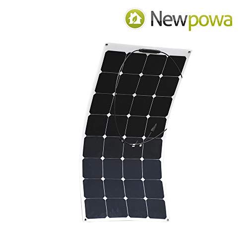 Newpowa 100 Watt flexibel monokristallines SolarModul biegbar Hohe Effizien 100W 12V Panel mono Solarzelle Photovoltaik für Wohnmobil Gartenhäuse Boot