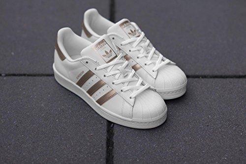 adidas Superstar W, Scarpe da Ginnastica Basse Donna bianco ramato