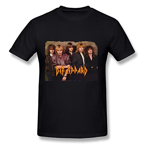 Yu Ye T Shirt For Men Def Leppard Large