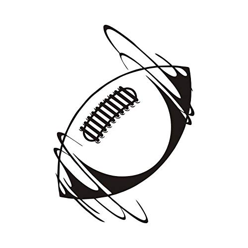 09 Home Rugby (Wandaufkleber Hochwertige Wandaufkleber Spinning Rugby Ball In Wind Vinyl Wandtattoo Sport Removable Home Decor Art Aufkleber Für Schlafzimmer 42x62 cm)
