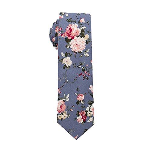 Unlimited energy Men's Skinny Tie Blumendruck Baumwolle Krawatte Hochzeit Party Urlaub Bräutigam Geschenk