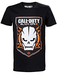 T-Shirt Call Of Duty Black Ops 3 Noir Blason Crâne