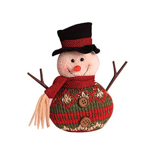 DDG EDMMS Schöne Weihnachts-Puppe Schneemann, handgefertigt, bunt, dekorative Geschenke -