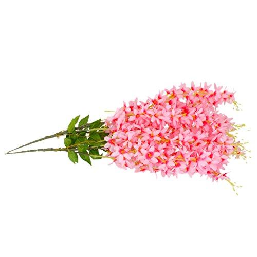 2x Bündel Seide Hängen Pflanzen Künstlich Blumen Kunstblumen Girlande