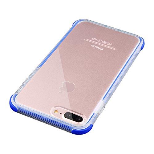 UNIYA iPhone 8Plus Fall, Perfekt Slim Fit Ultra Dünn Schutz Serie TPU + tpe 18 * 8 * 0.5 Blau Unlocked Touch Screen Cell Phone