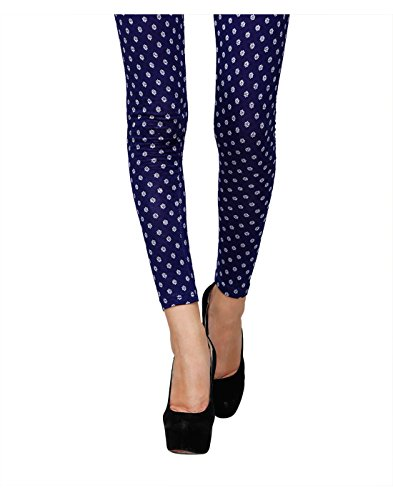 Yepme Women's Blue Viscose Leggings - YPMLGGN5077_M  available at amazon for Rs.179