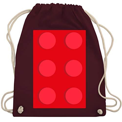 Karneval & Fasching - roter Stein 6 - Unisize - Bordeauxrot - WM110 - Turnbeutel & Gym Bag (Für Gruppen 6 Kostüme Von)