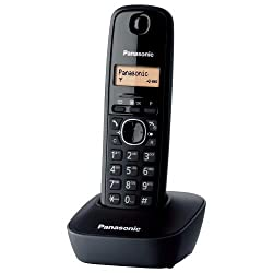 Panasonic Kx-tg1611eh Dect Cordless Phone (Black)