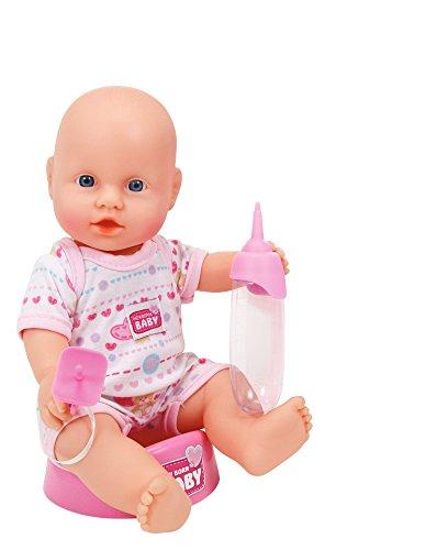 Simba 105036467 - New Born Baby Puppe mit Badezimmer