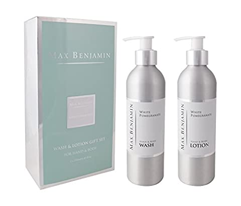 Max Benjamin Luxury Wash & Lotion Gift Set for Hand & Body - 2 x 250ml - White Pomegranate