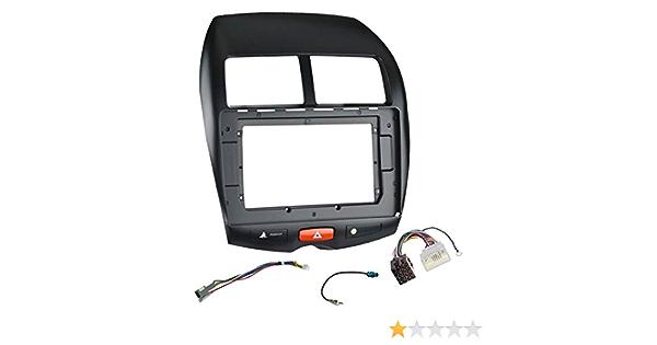 Sound Way 10 1 Zoll Radio Blende Einbau Rahmen Adapter Einbauset Kompatibel Mit Citroen C4 Aircross Mitsubishi Asx Auto