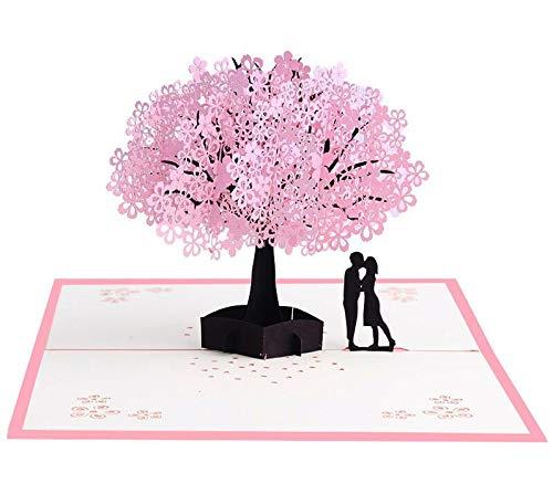 Czemo Tarjeta 3D Amor Pareja Tarjeta Pop-up Tarjeta