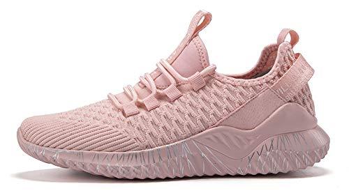 TQGOLD Turnschuhe Herren Damen Sportschuhe Laufschuhe Gym Fitness Leichte Schuhe Bequem Atmungsaktives Sneakers(Pink,Größe 40) - Damen Pink Schuhe