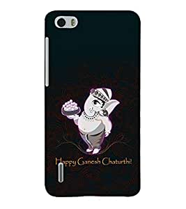 printtech Lord God Ganesha Chaturthi Back Case Cover for Huawei Honor 6