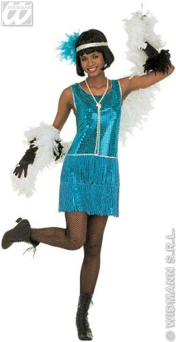 (WIDMANN Damen Deluxe Flapper-Kostüm, Größe XL (18-20), für 20er-/30er-Jahre, Mob Capone Bugsy Kostüm)