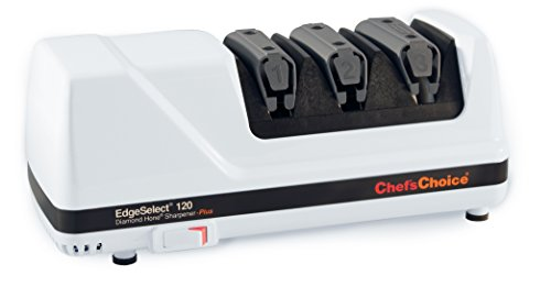 Chefs choice ec120 affilacoltelli, acciaio, bianco