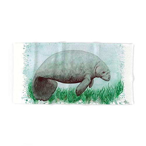 But why miss The Manatee ~ Watercolor by Amber Marine Bath Towel 31.5