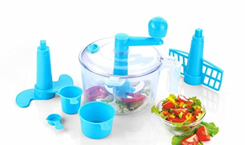 One Stop Shop Slings 5-Piece Atta Dough Kneader Maker with Cutter Chopper Kitchen Set (Multicolor)