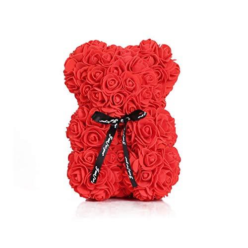 Ruiting Rose Bär Rot Blumen Deko Geschenk Hochzeit Valentinstag Bär Rose Rot 25cm 1 Stück