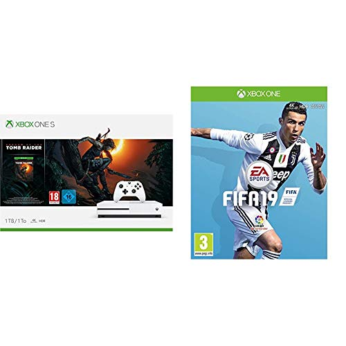 FIFA 19 + Xbox One S - Consola 1 TB + Shadow Of The Tomb Raider