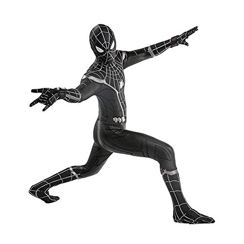 Spider-Man: Homecoming, Schwarzes Spider-Man-Kostüm Für Erwachsene Skinny One Piece Halloween Lycra Stretch Movie Clothes,Adult-XL (Spiderman Kostüme Schwarz)