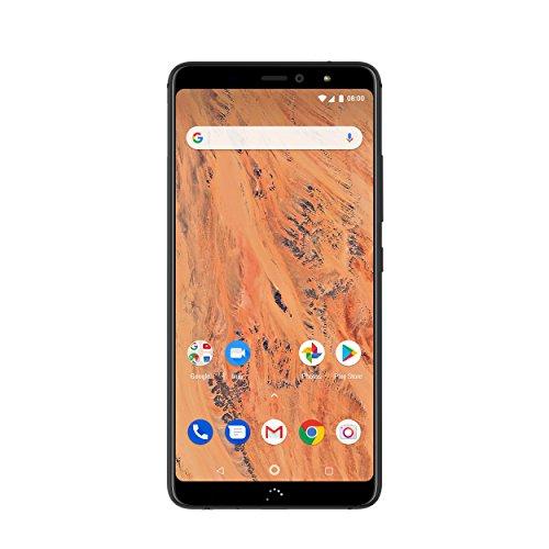 BQ C000314 Aquaris X2 14,35 cm (5,65 Zoll), Smartphone (Dual-Kamera Samsung S5K2L8, 12MP und S5K5E8, 5MP, 32GB Speicher) Schwarz/Carbon Schwarz