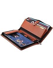 Coi Set of Five Orange Leatherite Cheque Book HolderDocumen