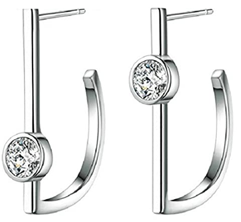 SaySure - S925 Silver Stud Earring New Fine Jewelry CZ Crystal