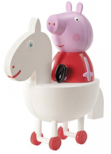 Figura Peppa pig a caballo 11cm