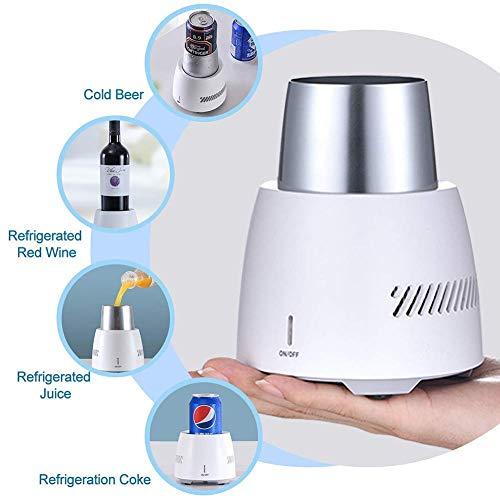 YSGBY Mini Desktop Fast Cooling Mug Energieeffizientes elektronisches Getränk zum Einfrieren von Getränken Wasser- / Bier- / Weinkühler, Cup Ice Maker