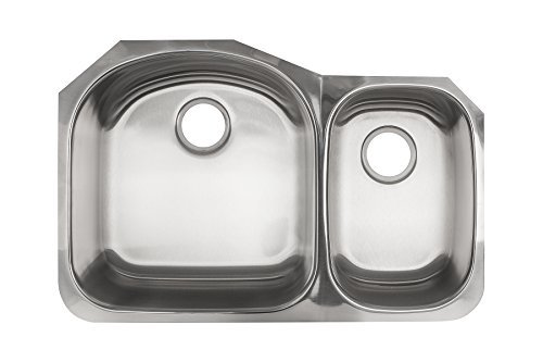 Kindred KSDCRU/9 Undermount Double Bowl Stainless Steel Kitchen Sink, Silk by Kindred Sinks -
