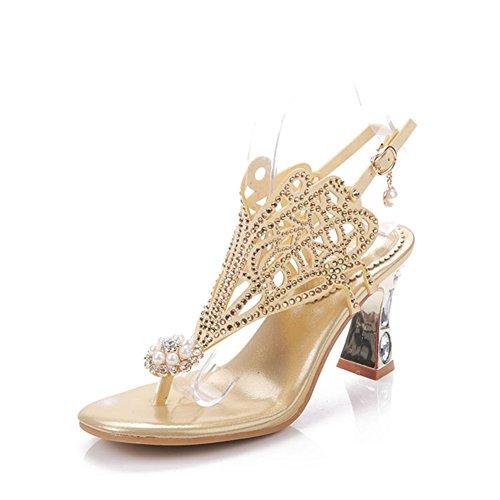Sandales à Diamants Creux/Baskets à Talons Hauts Respirants
