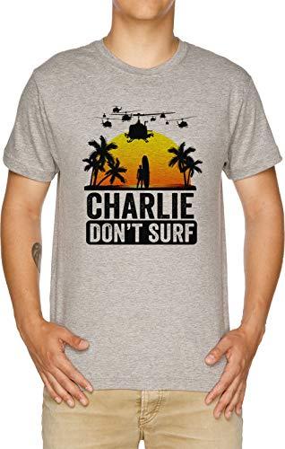 0005e1b318ee7 Vendax Charlie Dont Surf - Charlie Dont Surf T-Shirt Homme Gris