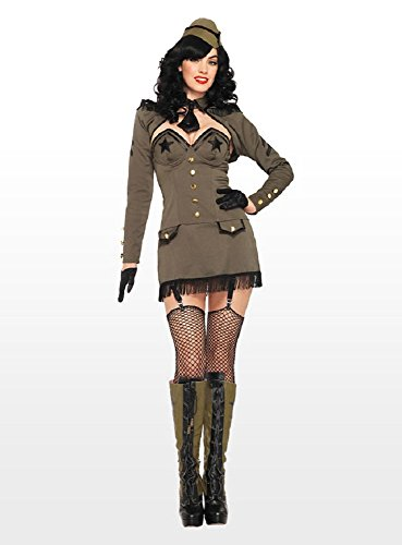 Leg Avenue 83955 - Pin Up Army Girl Kostüm, Größe M, ()